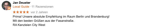Google Bewertung Wirtschaftsdetektei Berlin