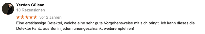 Google Bewertung Detektive Berlin